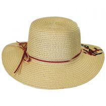 Kids' Cherry Blossom Toyo Straw Sun Hat in