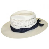 Harvey Shantung Straw Fedora Hat alternate view 3