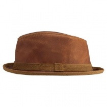 Soho Crushable Leather Trilby Fedora Hat in
