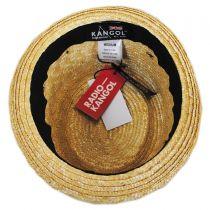 Wheat Straw Braid Pork Pie Hat in