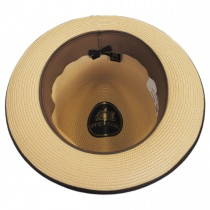 Latte Florentine Milan Straw Fedora Hat alternate view 17