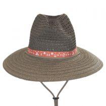 Bella Falls Toyo Straw Lifeguard Hat in