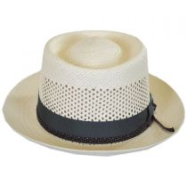Twofer Panama Straw Pork Pie Hat in