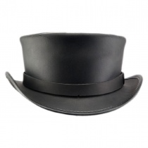 Marlow Leather Top Hat in
