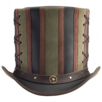 Absinthe Leather Stove Piper Top Hat alternate view 12
