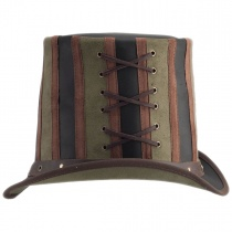 Absinthe Leather Stove Piper Top Hat alternate view 13