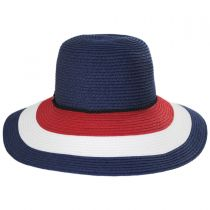 Anchor Trim Toyo Straw Down Brim Hat alternate view 6