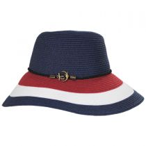 Anchor Trim Toyo Straw Down Brim Hat alternate view 7