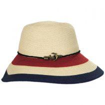 Anchor Trim Toyo Straw Down Brim Hat alternate view 3