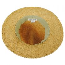 Striped Band Raffia Straw Fedora Hat alternate view 4