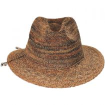 Space Dye Raffia Straw Fedora Hat alternate view 2