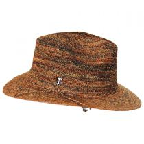 Space Dye Raffia Straw Fedora Hat alternate view 3