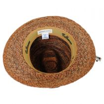 Space Dye Raffia Straw Fedora Hat alternate view 4