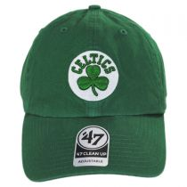 Boston Celtics NBA Clean Up Strapback Baseball Cap Dad Hat II alternate view 2