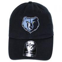 Memphis Grizzlies NBA Clean Up Strapback Baseball Cap Dad Hat alternate view 2