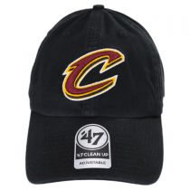 Cleveland Cavaliers NBA Clean Up Strapback Baseball Cap Dad Hat II alternate view 2