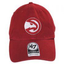 Atlanta Hawks NBA Clean Up Strapback Baseball Cap Dad Hat alternate view 2