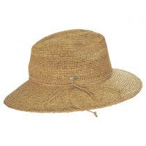 Crochet and Braid Raffia Straw Fedora Hat in