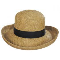 Raffia Straw Braid Breton Hat in