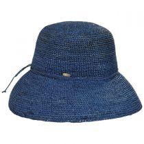 Crochet Raffia Straw Roller Hat in