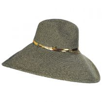 Luxe Toyo Straw Wide Brim Fedora Hat in
