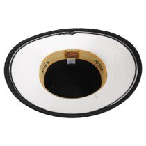 Black and White Toyo Straw Sun Hat in