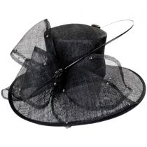 Hollywood Park Straw Boater Hat in