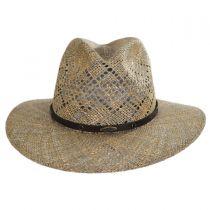 Digby Seagrass Straw Safari Fedora Hat in