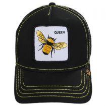 Queen Bee Mesh Trucker Snapback Baseball Cap alternate view 2