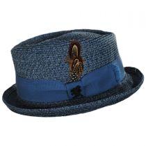 Toyo Straw Diamond Crown Fedora Hat in