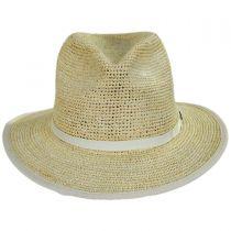 Pt. Loma Crochet Raffia Straw Fedora Hat in
