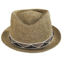 Albequerque Toyo Straw Diamond Crown Fedora Hat alternate view 2