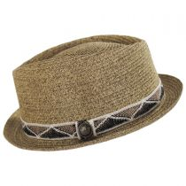 Albequerque Toyo Straw Diamond Crown Fedora Hat alternate view 3