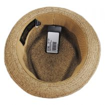 Albequerque Toyo Straw Diamond Crown Fedora Hat alternate view 4