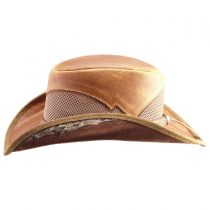 Durban Leather and Mesh Western Hat in