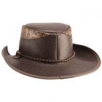 Falcon Embossed Leather Western Hat in
