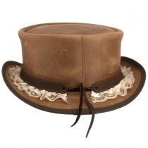 Marlow Garter Band Leather Top Hat in