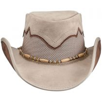 Sierra Leather and Mesh Western Hat in