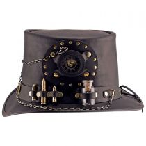 Time Port Leather Top Hat in