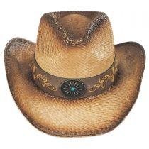Wildflower Aged Straw Western Hat in