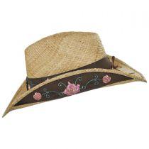 Pink Rose Raffia Straw Western Hat alternate view 3