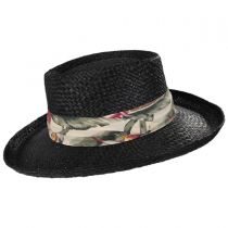 Back Nine Straw Gambler Hat in