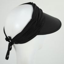 Ruched Crown Swim Visor in