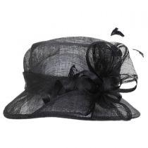 Delta Sinamay Straw Downbrim Hat in