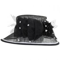 Becoming Sinamay Straw Boater Hat in