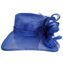 Cassandra Sinamay Straw and Mesh Boater Hat alternate view 3