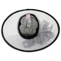 Tulip Sinamay Straw Downbrim Hat in