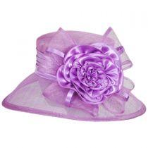 Zinnia Sinamay Straw Boater Hat in