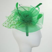 Swiss Dot Mesh Fascinator Headband in