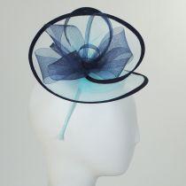 Two-Tone Swirl Mesh Fascinator Headband in